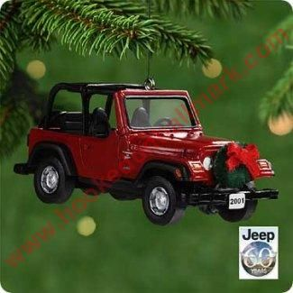 2001 Hallmark Ornament - Jeep Sport Wrangler - Hallmark Keepsake Christmas Ornaments