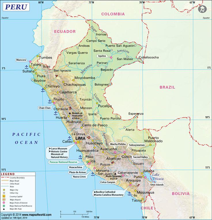 Mapa del Peru , Mapa Peru