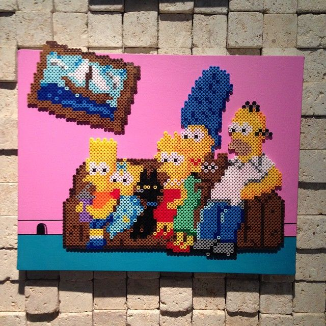 The Simpsons perler art by oleehamo
