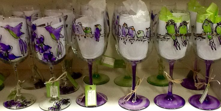 Birds - Glassware Creations by Laurie