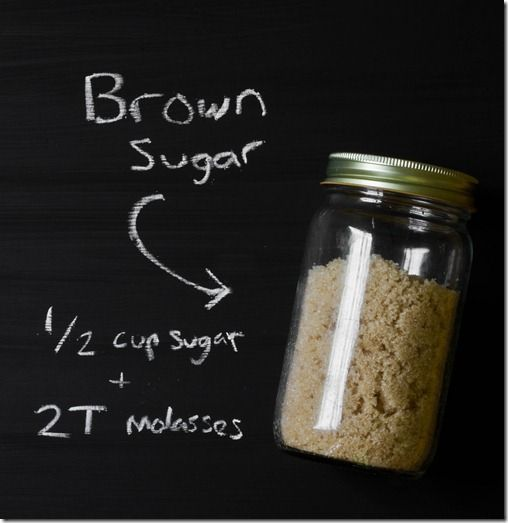 How To:Make Brown Sugar 1/2 Cup Sugar + 2 T Molasses...I started making my own brown sugar and it tastes alot better and it's super cheap to make.