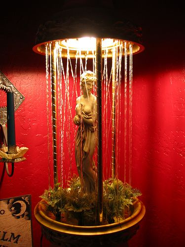 Rain lamp, very popular in the 70s.  My grandmother had one-we were mesmerized with it. :)