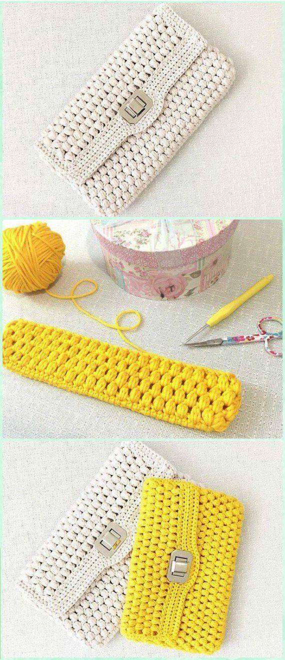 Crochet Puff Clutch Free Diagram - Crochet Clutch Bag