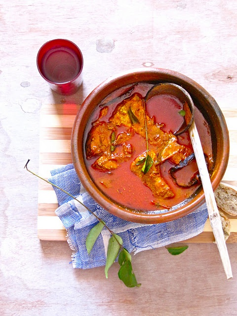 Fish curry with coconut milk made in earthen pot - Traditional Kerala style