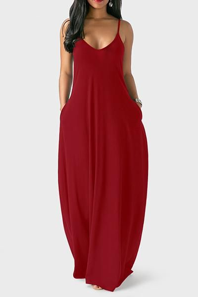 Casual Asymmetrical Floor Length Dress