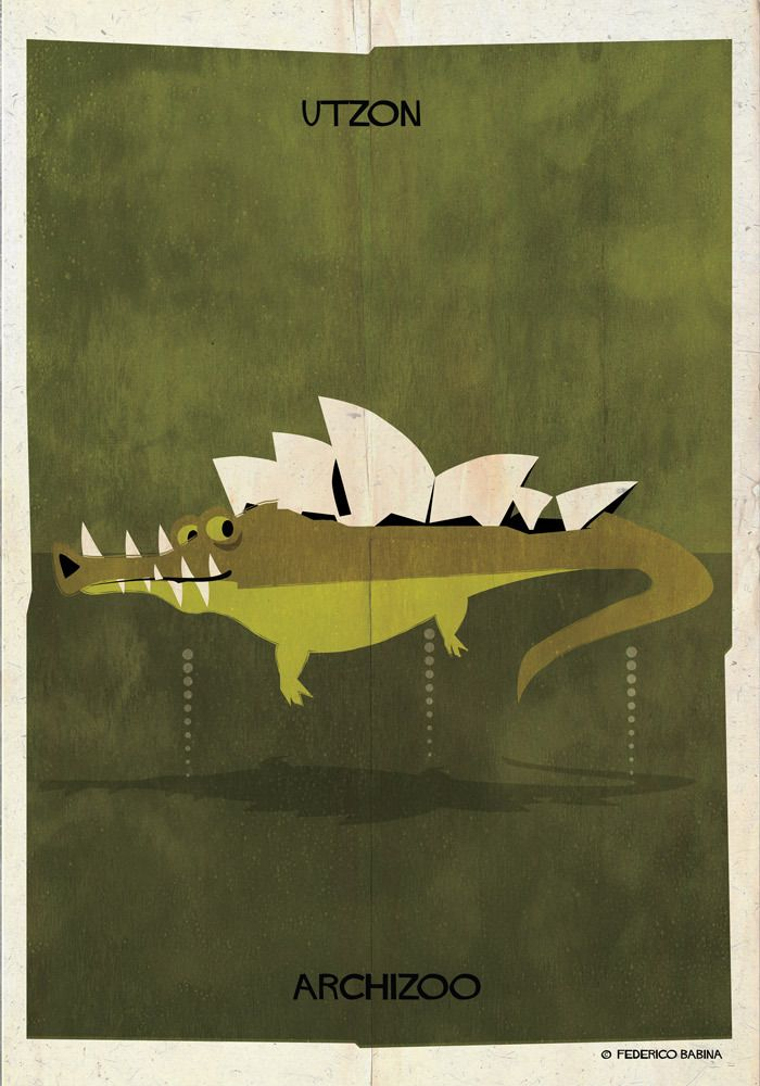 """Architecture Photography: ARCHIZOO: Illustrated Architectural """"Animals"""" from Federico Babina (612321)"""