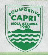 Polisportiva Capri  Italy, 2004/05. Very rare match worn shirt from this football team from the island of Capri. The green stripes are not all of the same width, they are broader at the top and narrower at the bottom.