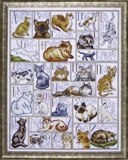 Design Works Counted Cross Stitch Picture Kit - ABC Cats