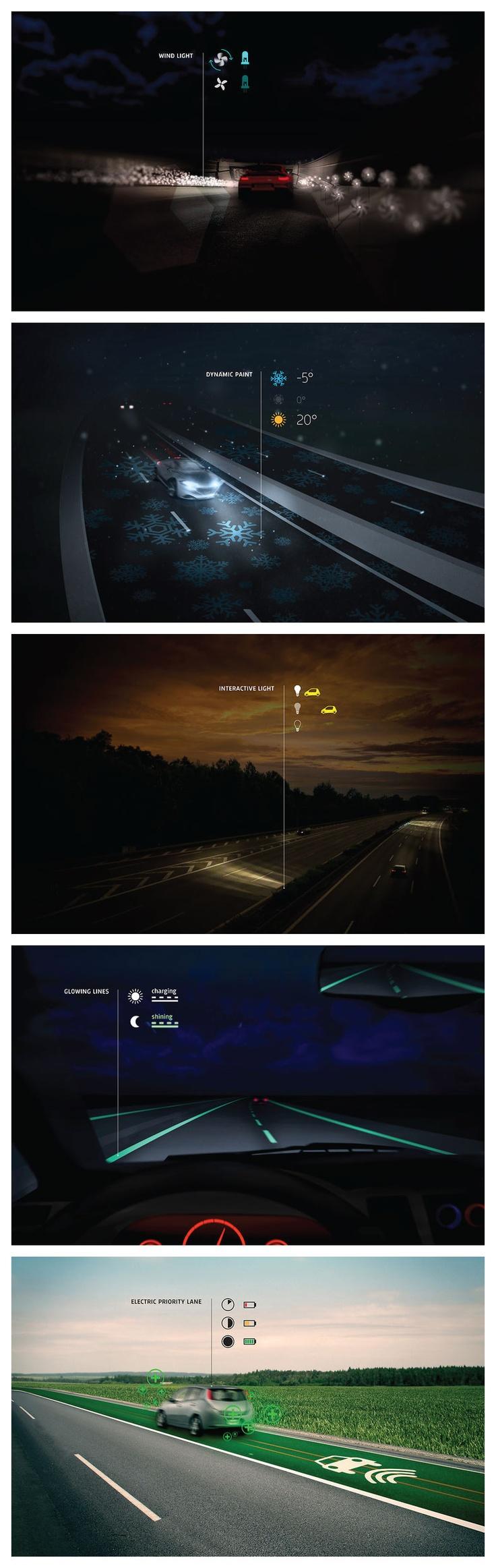 Smart Highway by Dutch designer Daan Roosegaarde