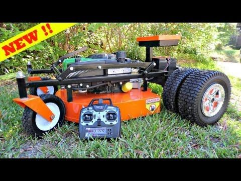 REDESIGNED ZTR-22-SE REMOTE CONTROL MOWER By: SUMMIT LAWN MOWER CO. - YouTube
