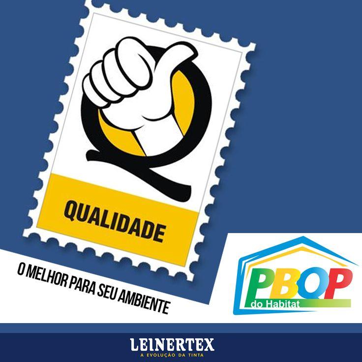 Temos orgulho de ser Leinertex. Nós fazemos parte de um seleto grupo de empresas que possuem o selo PBQP do Habitat, que são Empresas Qualificadas pelo Programa Setorial de Qualidade – Tintas.