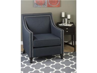 Silver Nail Head Trim U0026 Deep Navy Upholstery On A Clean Contemporary Frame  Make This