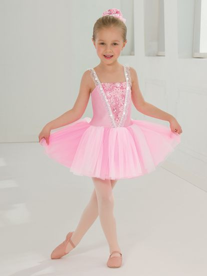 Kids white dance dress
