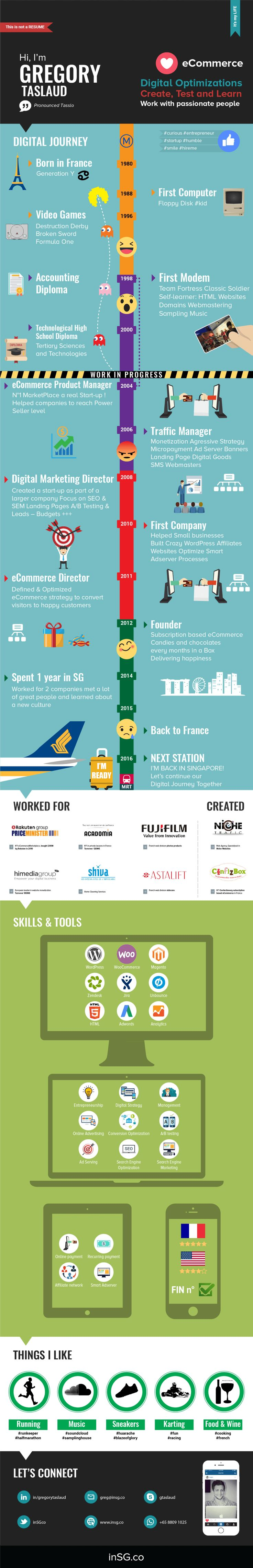 Infographic Resumes 1000 images about infographic resumes on pinterest creative infographic resume and creative resume Digital Ecommerce Infographic Singapore 2015