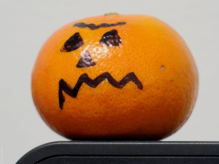 https://flic.kr/p/CUezKC   It's a great Charlie Brown pumpkin!   It's actually a small orange, but don't tell Linus.
