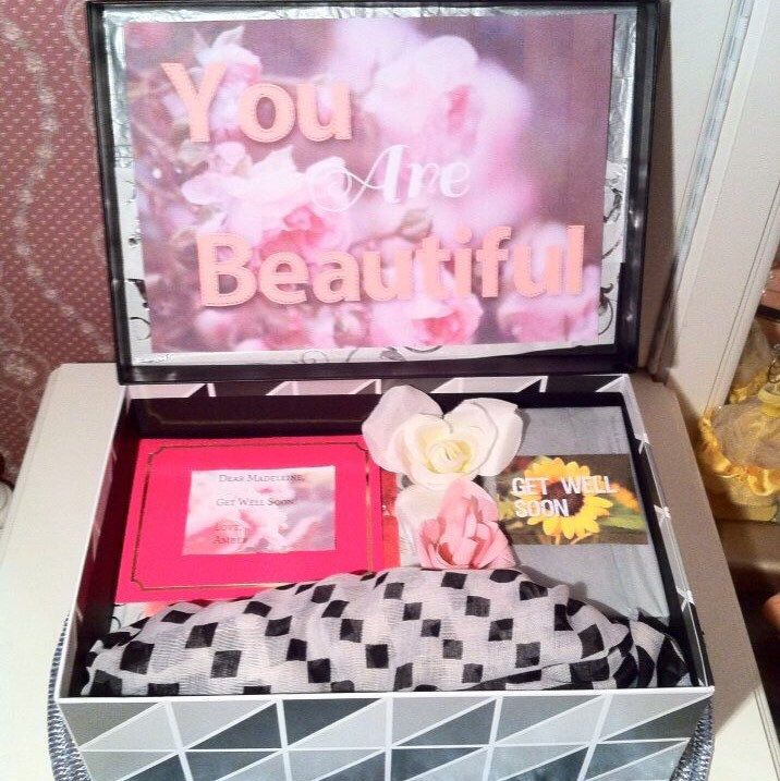 Here's a #getwell #youarebeautifulbox in #grey 💕