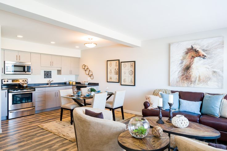 Beautifully staged living room!  Find your dream Winnipeg rental home today!