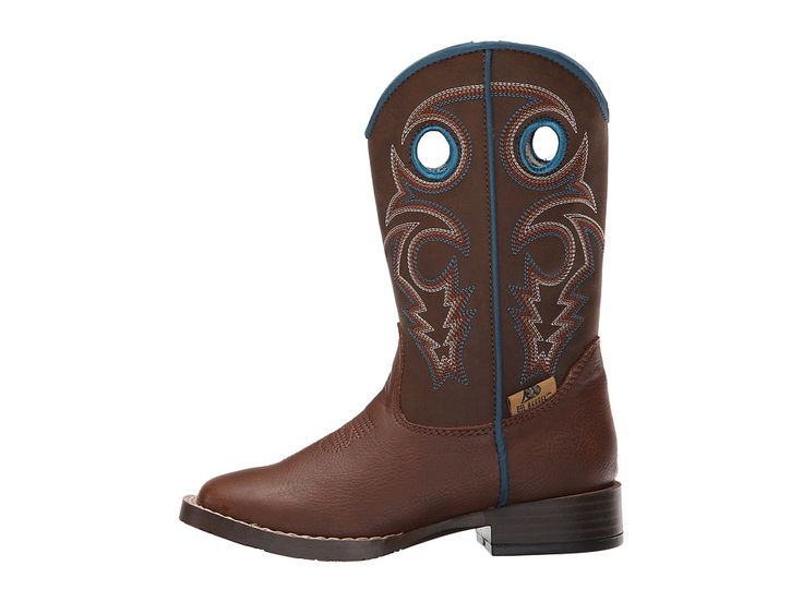 M&F Western Dylan Zip (Toddler) Cowboy Boots Brown