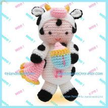 HandmadeKitty- Baby Lucas in Cow Outfit