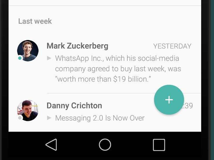 #MaterialDesign was announced just a couple of days ago, and already some smashing redesigns are popping up. Here's one worth noting: WhatsApp by Michal Feltl.