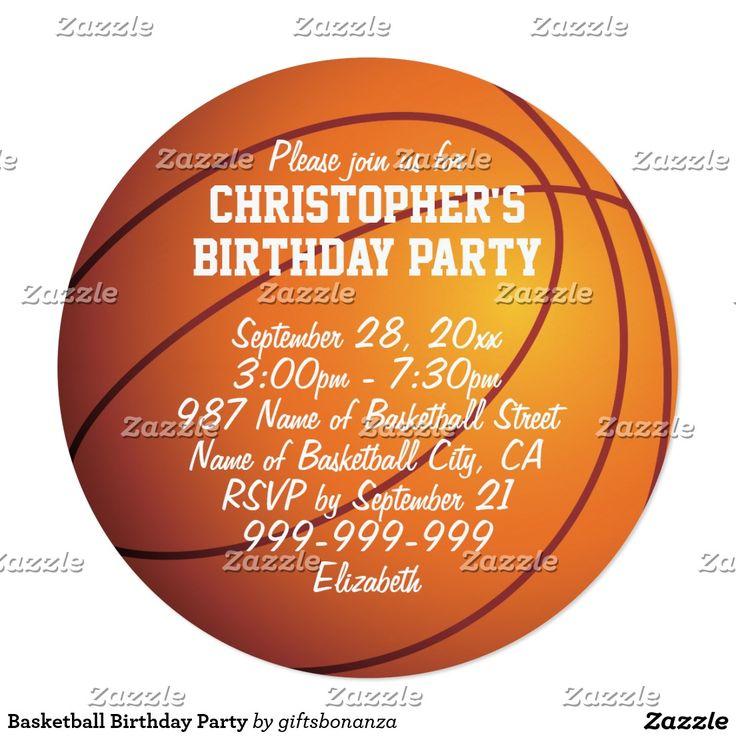 Basketball Birthday Party Card