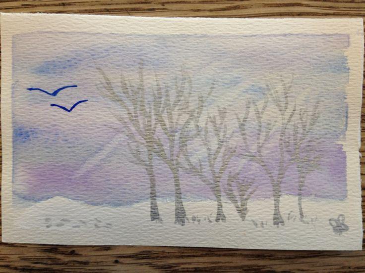 The stillness of a  winter's morn