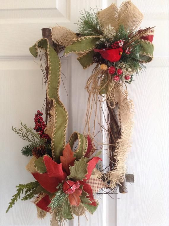Valentine decor, /'love you to the moon and back Valentine wreath Rectangle twig,pole wreath with red bird red flowers