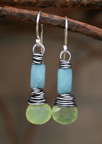 (Etsy, no longer available) Wire wrapped earrings to work