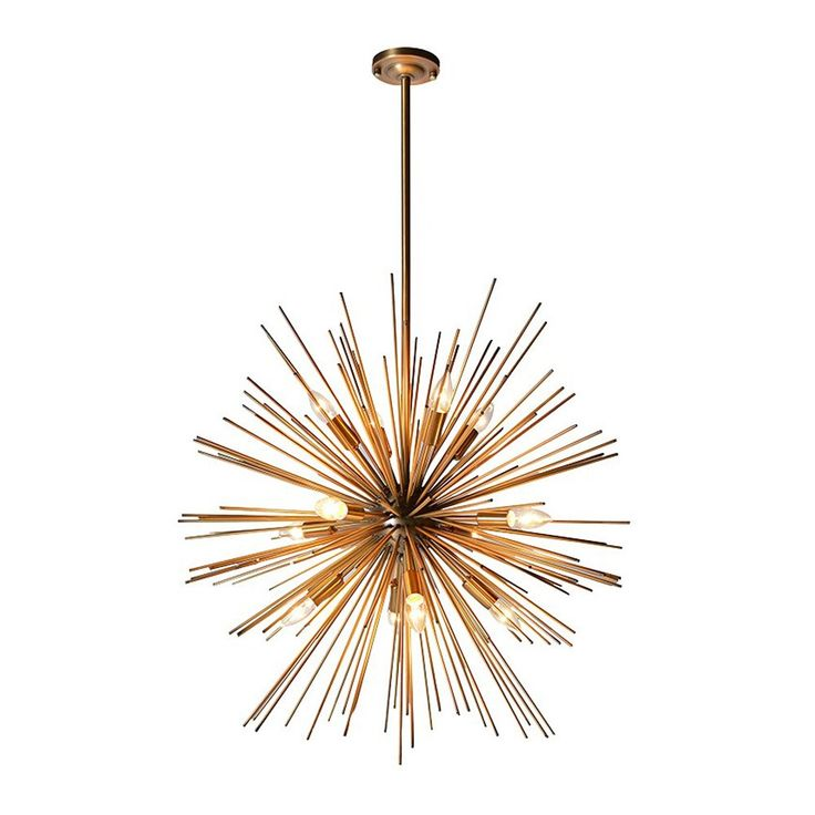 Houseology+Collection+Burst+Ceiling+Pendant+Light+Gold+-+Mid-century+inspired+sputnik+metal+ceiling+light. Bring+influences+of+mid-century+design+into+the+heart+of+your+home+with+the+Starburst+Ceiling+Pendant+Light+Gold. Beautifully+crafted+from+iron,+this+statement+lighting+piece+from+the+Houseology+Collection+collection+is+sure+to+be+a+talking+point+in+your+design+scheme. Taking+inspiration+from+mid-century+design+elements,+the+gold+finished+spherical+ceiling+light+features+a+breath+tak...