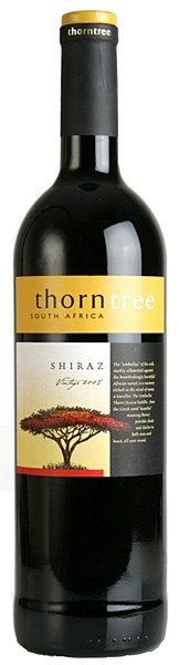Thorntree Shiraz 2009 - Full bodied and supple with warm, spicy flavours and plenty of berry fruit. Easy-drinking, sleek style.Great accompaniment to pizza, steak and venison. 100% Shiraz   14% ABV