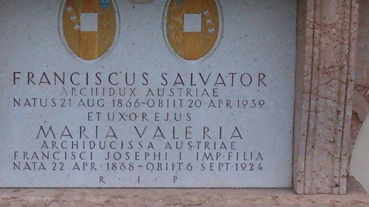 Marie Valerie's gravestone