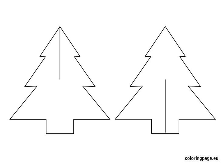 3d Christmas Tree Cut Out 3d paper trees template included ...