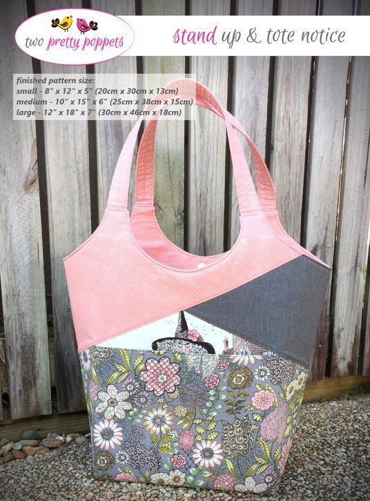 Stand Up & Tote Notice! - PDF Sewing Pattern
