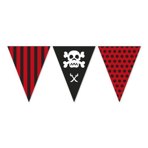 Polybag Banderas Triángulo Pirata de 5 m.