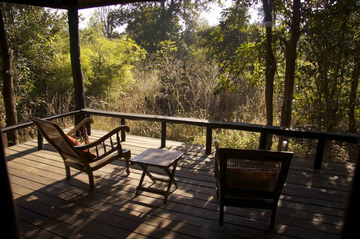 The sit-out at the Kanha Earth Lodge - some peace and quiet time!   www.kanhaearthlodge.com