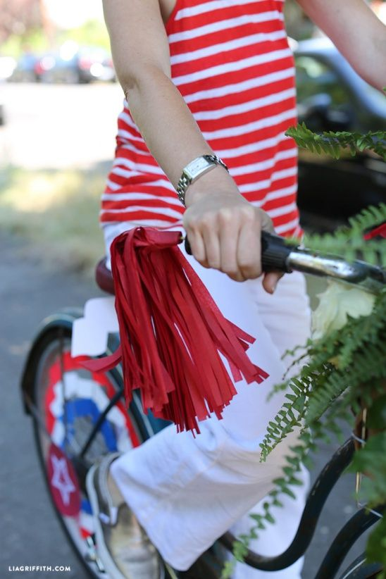 4th of July Bike Decorations by lia griffith | Project | Papercraft | Home Decor / Decorative | Holiday | Kollabora