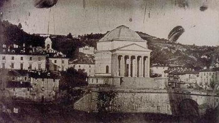 Enrico Federico Jest, Torino, Veduta della Gran Madre di Dio, 8 ottobre 1839 (Torino, Galleria Civica d'Arte Moderna)