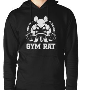"""Not the average GYM RAT"" T-Shirts & Hoodies by eclipticafusion 