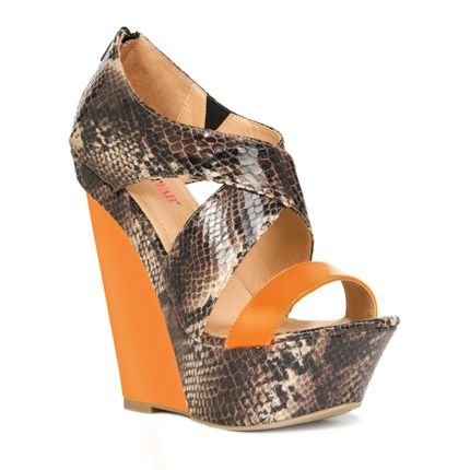 Orange spring dress to compliment this shoe..