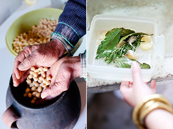 From the Aegean countryside: wood-fired oven chickpeas
