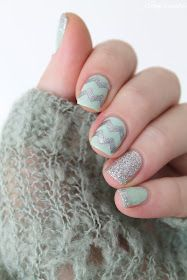 ▲▼▲ Coco's nails ▲▼▲: Mint & Silver