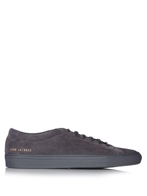 COMMON PROJECTS Original Achilles low-top suede trainers. #commonprojects #shoes #sneakers