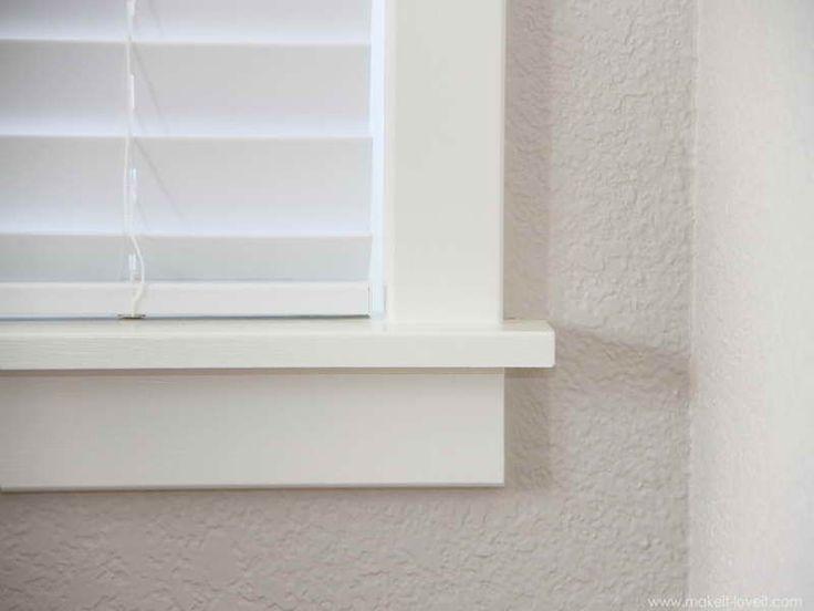 Gallery For  Simple Window Trim  DIY Home IMPROVEMENT  Interior windows Interior window