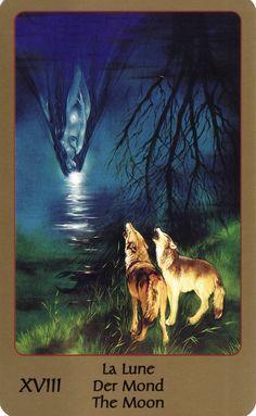 XVIII. The Moon - Tarot of Eden by Alika Lindbergh, Maud Kristen