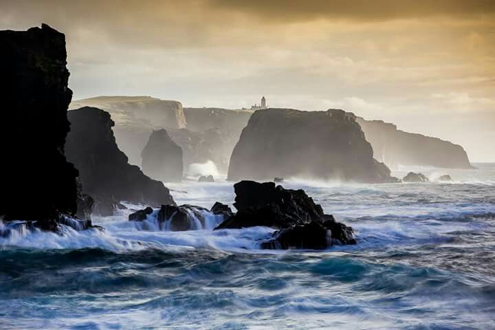 The wildly beautiful Eshaness coast and Lighthouse ... Shetland Islands, Scotland - by Scott Goudie Photography.