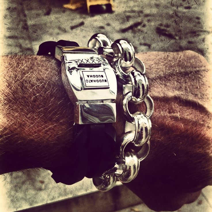 Lorca in black and open Batul bracelets by Buddha to Buddha