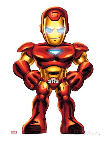 Marvel Super Hero Squad: Iron Man Standing Posters na AllPosters.com.br