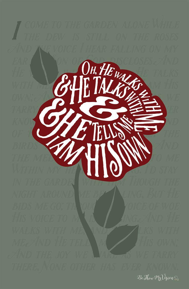 In The Garden - Hymn Art Print