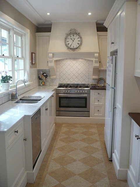 63 best kitchen images on pinterest kitchens cooking for Expanding a galley kitchen