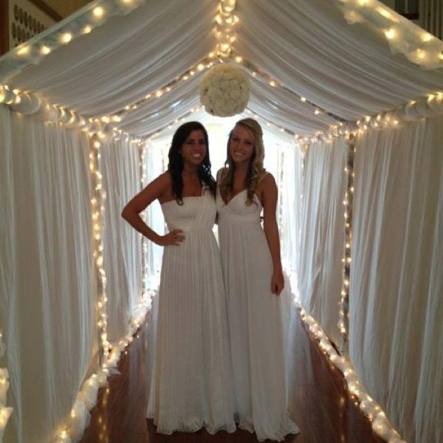 Beautiful entry way for preference night. Great idea from ADPi sisters at UF!